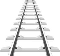 Rails with concrete sleepers illustration Stock Illustration