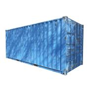 shipping container - stock photo