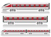 Stock Illustration of speed train locomotive and wagon illustration