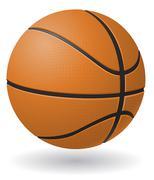basketball ball illustration - stock illustration