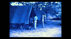 Returning to camp, Tanzania 1937 Stock Footage