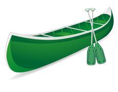 canoe illustration - stock illustration