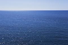 Italy, Liguria, View of Mediteranean Sea - stock photo
