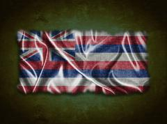Stock Illustration of vintage hawaii flag.