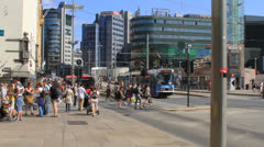 Trolly in Downtown Oslo - stock footage