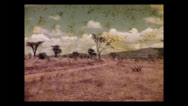 Stock Video Footage of Trucks on the road on the Athi Plains, Tanzania 1937