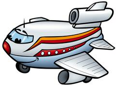 Smiling Airplane Stock Illustration