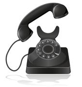 old phone illustration - stock illustration