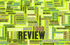 Food review Stock Illustration