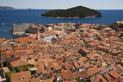 Croatia, Dubrovnik, View of old town Stock Photos
