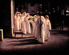 Stock Video Footage of 8MM catholic communion - 1967 1