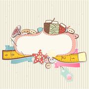 Sewing accessories Stock Illustration