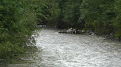 Strong Curent Mountain River 4 Stock Footage
