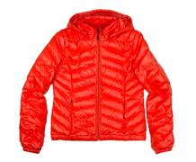 orange down jacket - stock photo