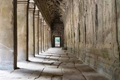 Stock Photo of outer corridor of angkor wat, cambodia