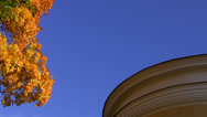 Stock Video Footage of Autumn. Round building