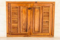 wooden window - stock photo