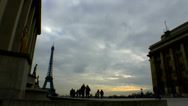 Stock Video Footage of People Enjoy Paris France Time Lapse