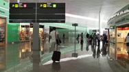 Stock Video Footage of Barcelona Del Prat International Airport Catalonia Spain 14