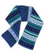 warm scarf with scandinavian design - stock photo
