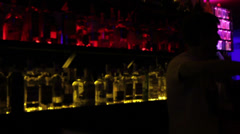 Blurry view of night club bar - drugs, alcohol, disease, vision, click for HD - stock footage