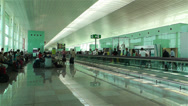 Stock Video Footage of Barcelona Del Prat International Airport Catalonia Spain 17
