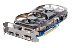 graphics card  - stock photo