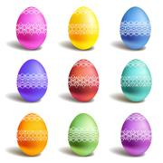 Set of color easter eggs Stock Illustration