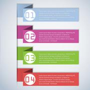 Infographic template - stock illustration