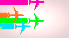 Air traffic concept animation, route, busy, flight. Stock Footage
