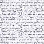 Seamless abstract handwritten text pattern Stock Illustration