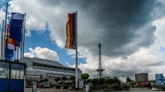 Berlin ICC Timelapse 4k #2 Stock Footage