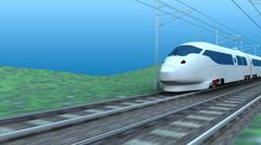 High speed rail, transit, transportation, system, train. Stock Footage