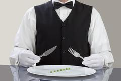 Stock Photo of Man with diet meal in plate