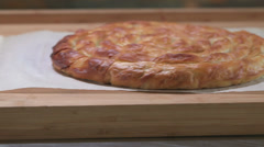 The Perfect Spinach Pie HD Video Stock Footage
