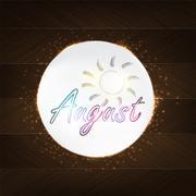 august typography - stock illustration