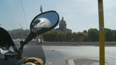 Scooter  mirror reflection (slomo) Stock Footage