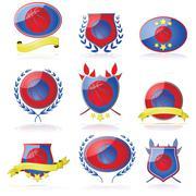 Basketball badges Stock Illustration