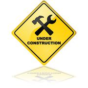 under construction sign - stock illustration