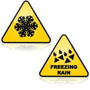 Snow and freezing rain Stock Illustration