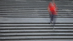 People on stairs Stock Footage