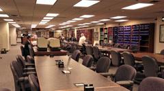 Mormon LDS genealogy Library Salt Lake City Utah HD 8709 Stock Footage