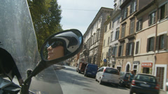 Lady on a scooter in Rome - 1 Stock Footage