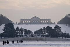 Stock Photo of View of gloriette in Schoenbrunn Palace