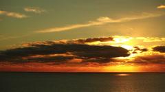 Tijuana Mexico Ocean Sunset HD Video Stock Footage