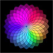 Rainbow style wheel. Color Creative Abstract Flower Stock Illustration