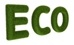 Title ECO with grass Stock Illustration