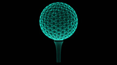 Golfball. Looping. - stock footage