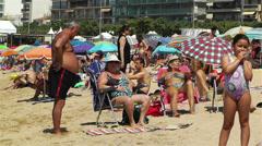 Palamos Beach Costa Brava Spain 11 Stock Footage