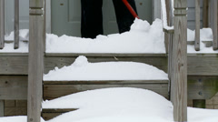 Snow Clearing 02 steps - stock footage
